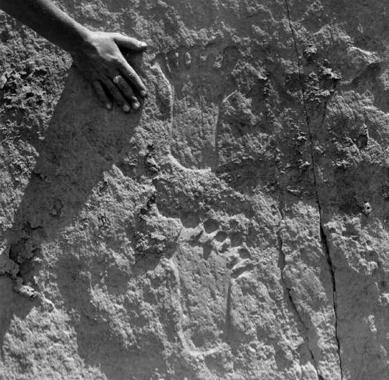 Petroglyph at Chaco Canyon