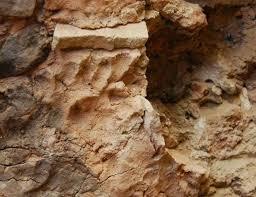 Footprint at entrance of ruin