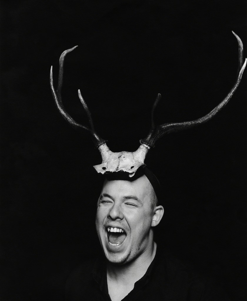 McQueen with Pagan antlers