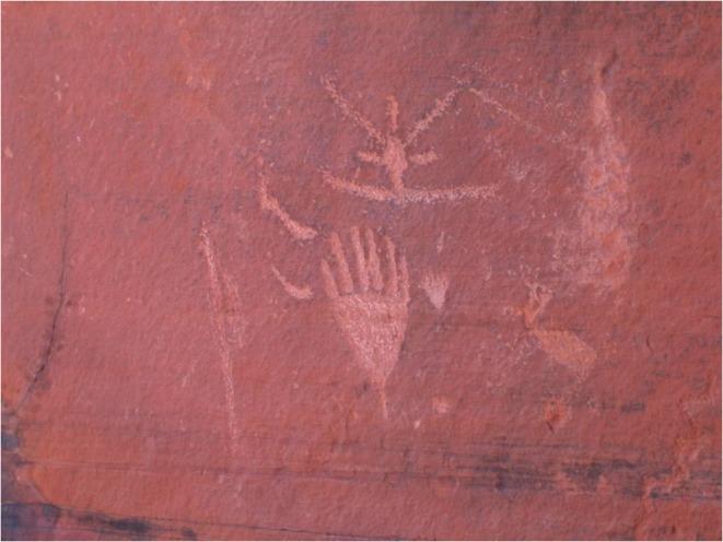 Red Draw Tank Petroglyph site near Sedona