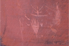 Red Draw Tank Petroglyph site near Sedona