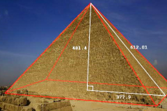 Pythagorean Geometry in the Pyramids