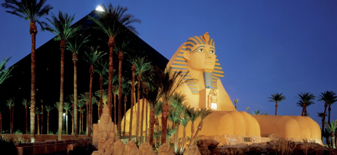Luxor Hotel Exterior Sphinx Side View